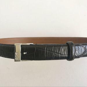Ralph Lauren Dark Brown Belt Silver Buckle Size M